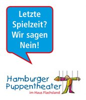 Hamburger Puppenspiel-Theater: Protest-Logo